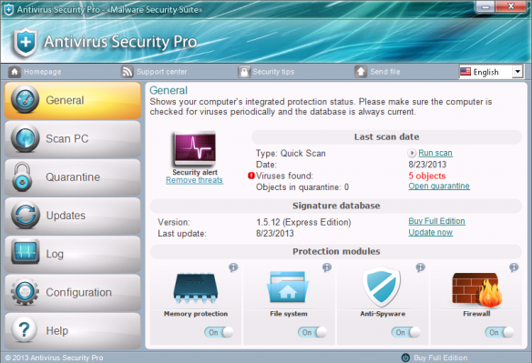 Antivirus Security Pro GUI2